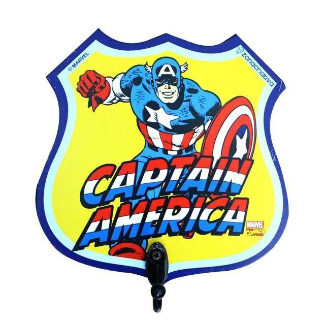 Pendurador de 1 Gancho Capitão América - Zona Criativa