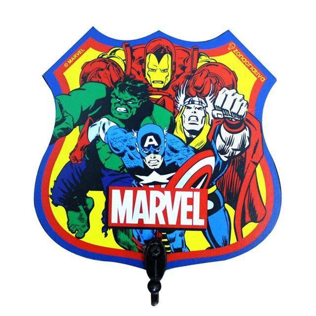 Pendurador de 1 Gancho Heróis Comics - Zona Criativa