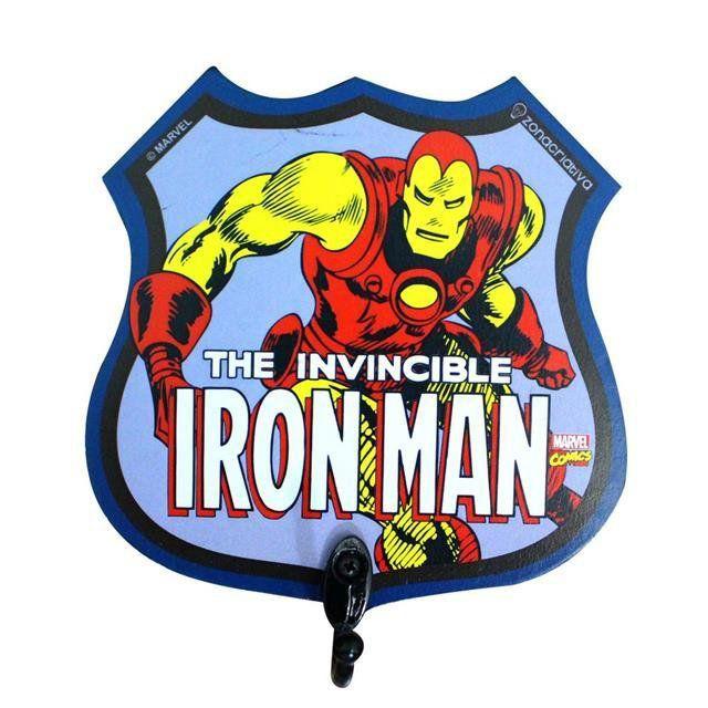 Pendurador de 1 Gancho Iron Man - Zona Criativa
