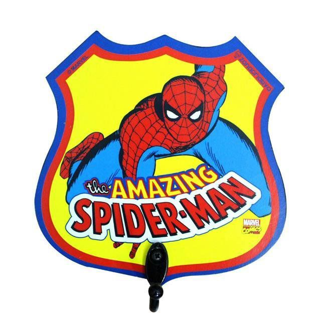 Pendurador de 1 Gancho Spider Man - Zona Criativa