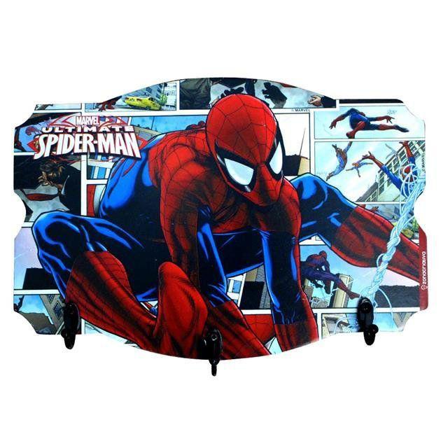 Pendurador de 3 Ganchos Spider Man - Zona Criativa
