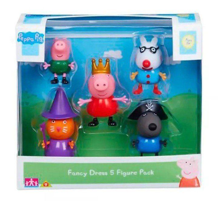 Peppa Pig: Conjunto com 5 Bonecos - DTC