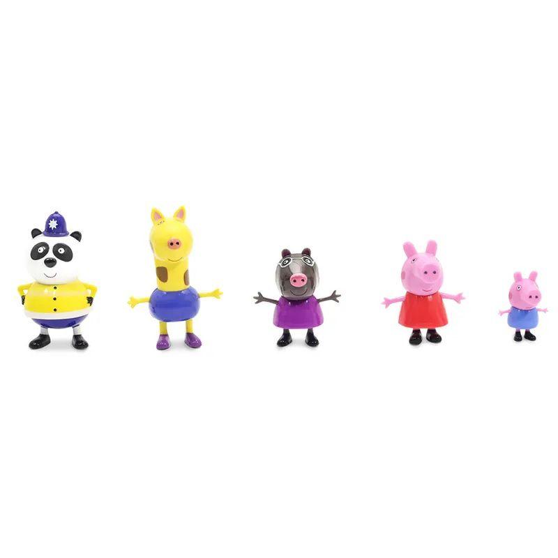 Peppa Pig (Passeio Na Cidade): Conjunto com 5 Bonecos - DTC