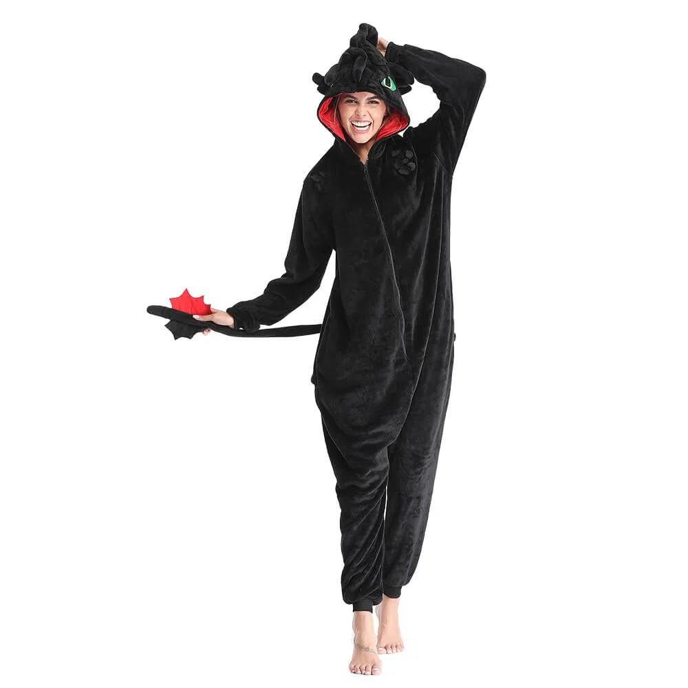 Pijama Macacão (Kigurumi) Adulto Banguela - Como Treinar O Seu Dragão - EV