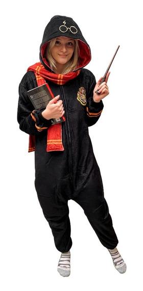 Pijama Macacão Kigurumi Adulto Brasão Das Casas Hogwarts: Harry Potter - Zona Criativa