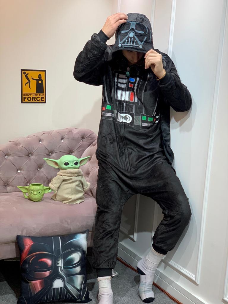 Pijama Macacão (Kigurumi) Adulto Darth Vader: Star Wars