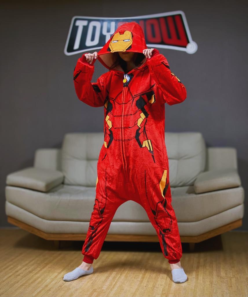 Pijama Macacão Kigurumi Adulto Homem de Ferro Iron-Man: Vingadores Avengers - Marvel Comics