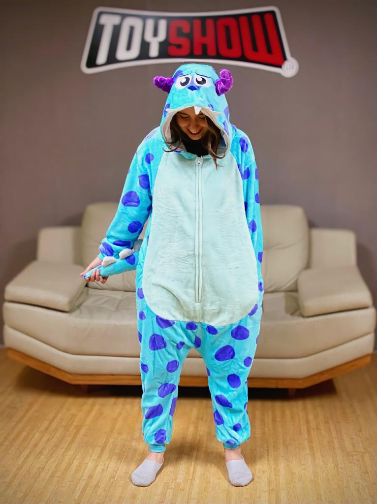 Pijama Macacão Kigurumi Adulto James P. Sullivan Sulley: Monstros S.A - Pixar