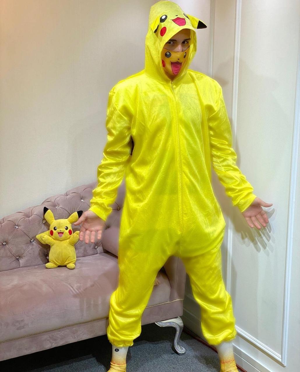 Pijama Macacão (Kigurumi) Adulto Pikachu: Pokémon - EV