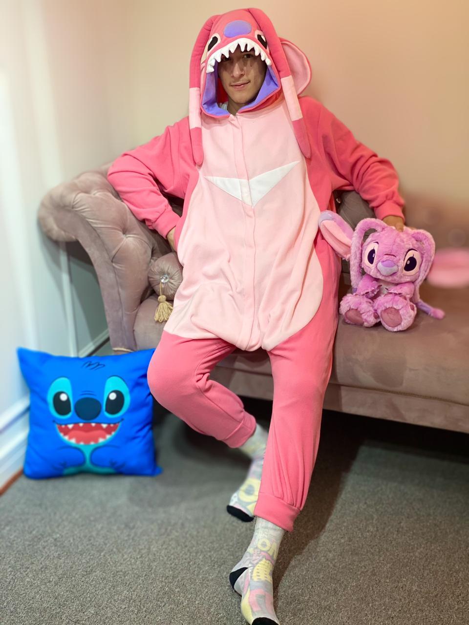 Pijama Macacão (Kigurumi) Adulto Stitch Angel - EV