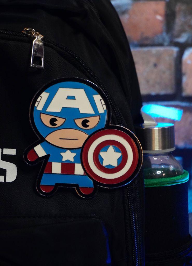 Pin Bottom Geek Capitão América Captain America: Vingadores Avengers Marvel Comics Funpin - Zona Criativa
