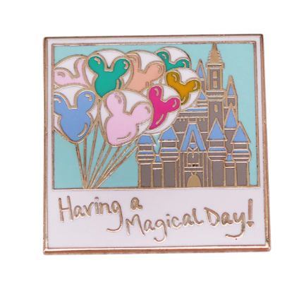 Pin Bottom Metálico Having a Magical Day: Walt Disney World Resort - MKP