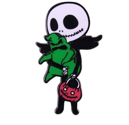 Pin Bottom Metálico Jack Skellington: O Estranho Mundo de Jack The Nightmare Before Christmas - MKP