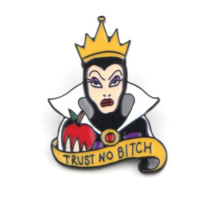 Pin Bottom Metálico Malévola Maleficent Trust no Bitch: Malévola: Dona do Mal - Disney - MKP