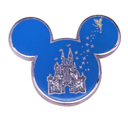 Pin Bottom Metálico Mickey Mouse e Sininho: Castelo da Cinderela - Disney+ - MKP