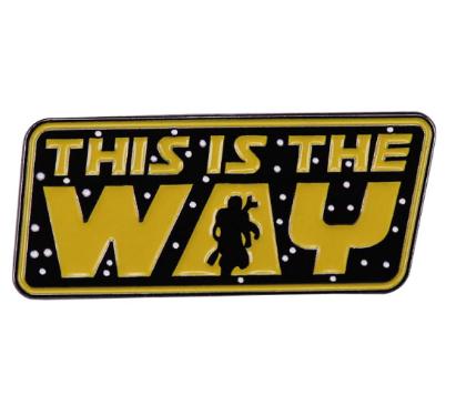Pin Bottom Metálico O Mandaloriano The Mandalorian This Is The Way: Guerra Nas Estrelas Star Wars - Diney+ - MKP