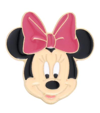Pin Bottom Metálico Rosto Minnie Mouse: Mickey e Minnie Mouse - Disney - MKP