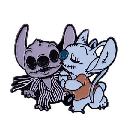 Pin Bottom Metálico Stitch e Angel : Lilo & Stitch e Jack Skellington - Disney+ - MKP
