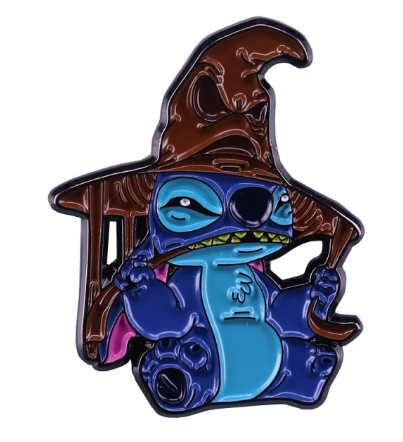 Pin Bottom Metálico Stitch Lufa Lufa: Lilo & Stitch e Harry Potter - MKP