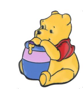 Pin Bottom Metálico Ursinho Pooh e o Pote de Mel: Ursinho Pooh - Disney  - MKP