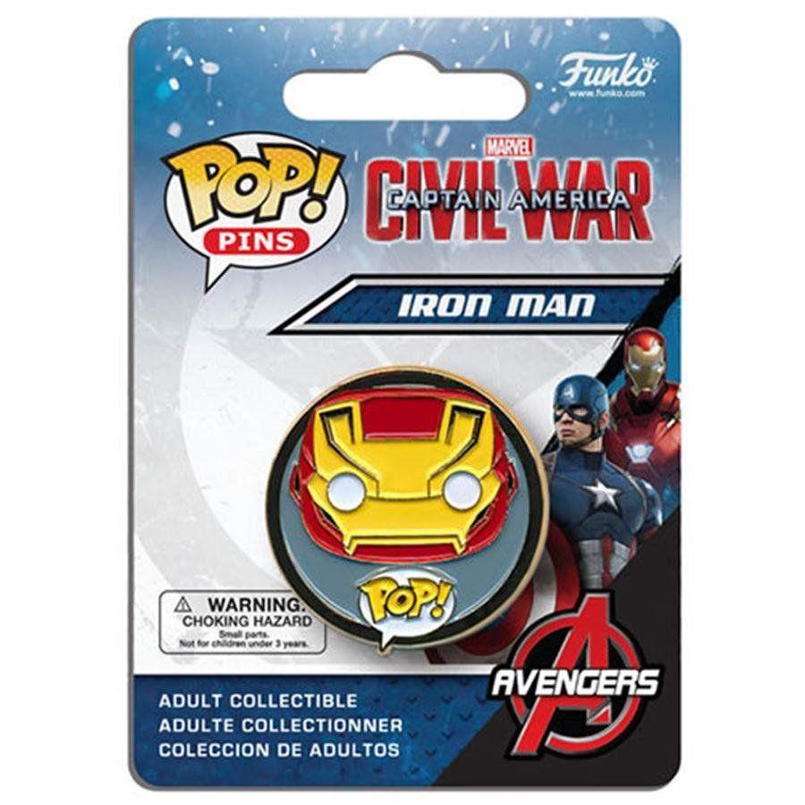 Funko Pins e Buttons POP! Guerra Civil: Iron Man - Funko