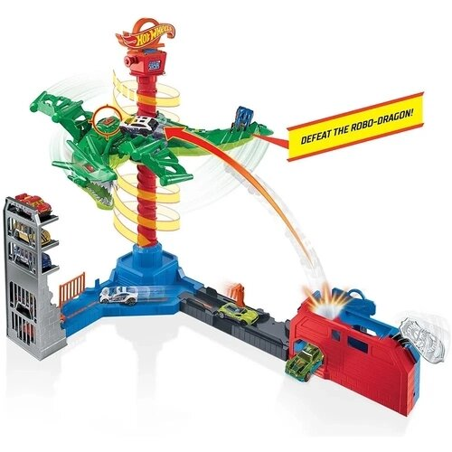Pista Ataque Aéreo do Dragão: Hot Wheels - Mattel