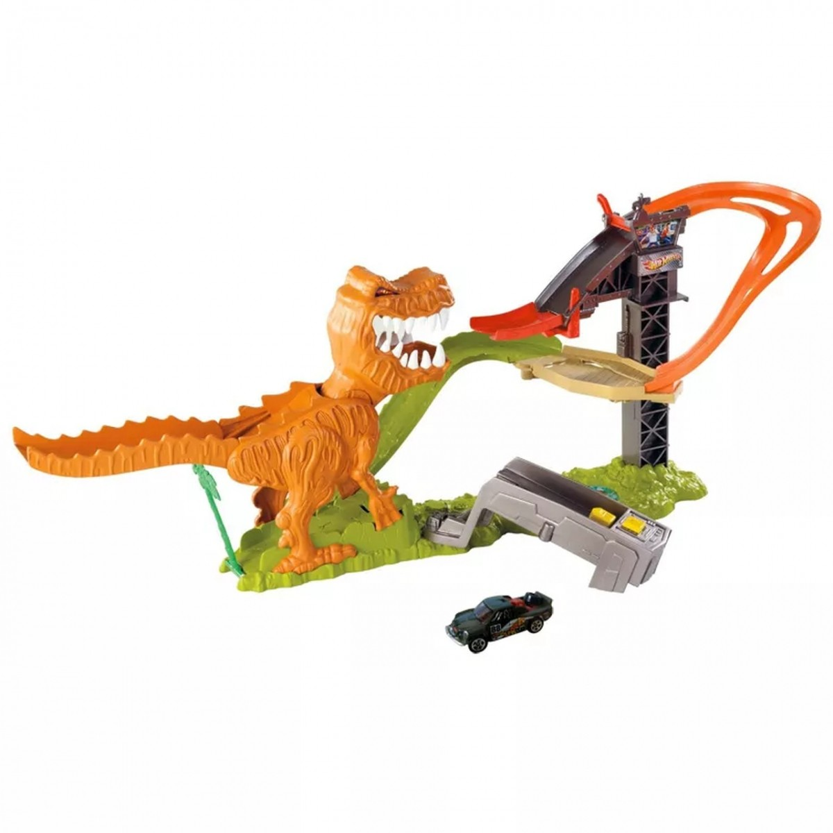 Pista Hot Wheels: Ataque do T-Rex