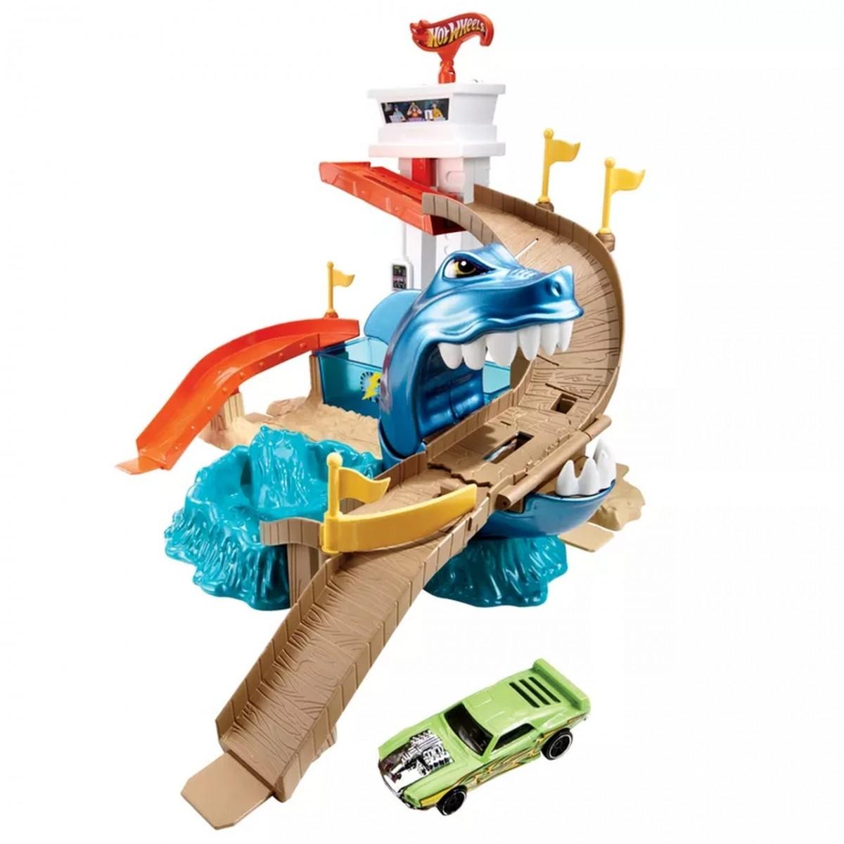 Pista Hot Wheels Ataque Tubarão: Color Shifters