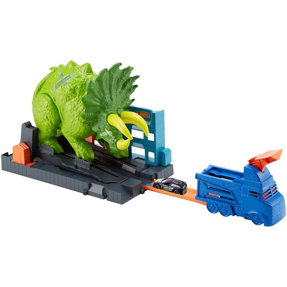 Pista Hot Wheels City: Ataque De Triceratops - Mattel