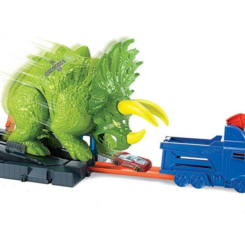 Pista Hot Wheels City: Ataque De Triceratops - Mattel