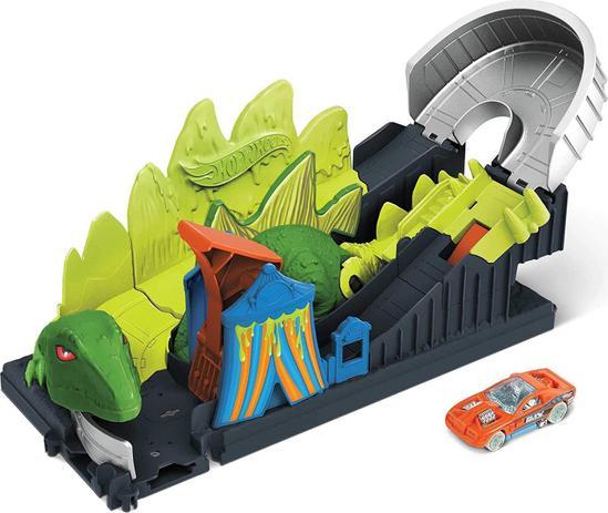 Pista Hot Wheels City: Ataque Toxico Do Dinossauro - Mattel