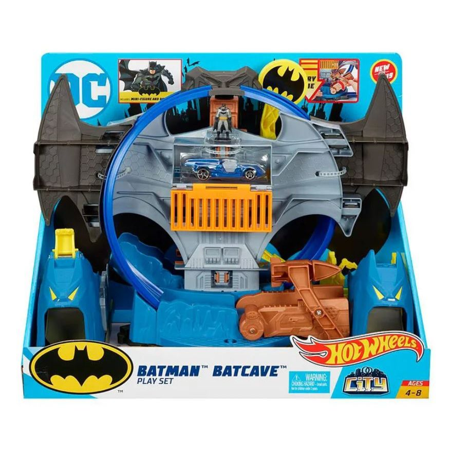 Pista Hot Wheels City: Batman (Batcaverna) - Mattel