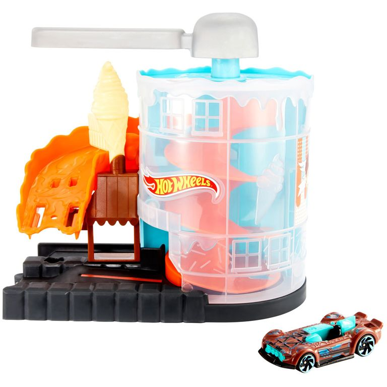 Pista Hot Wheels City Conjunto Básico: Loja de Sorvete - Mattel