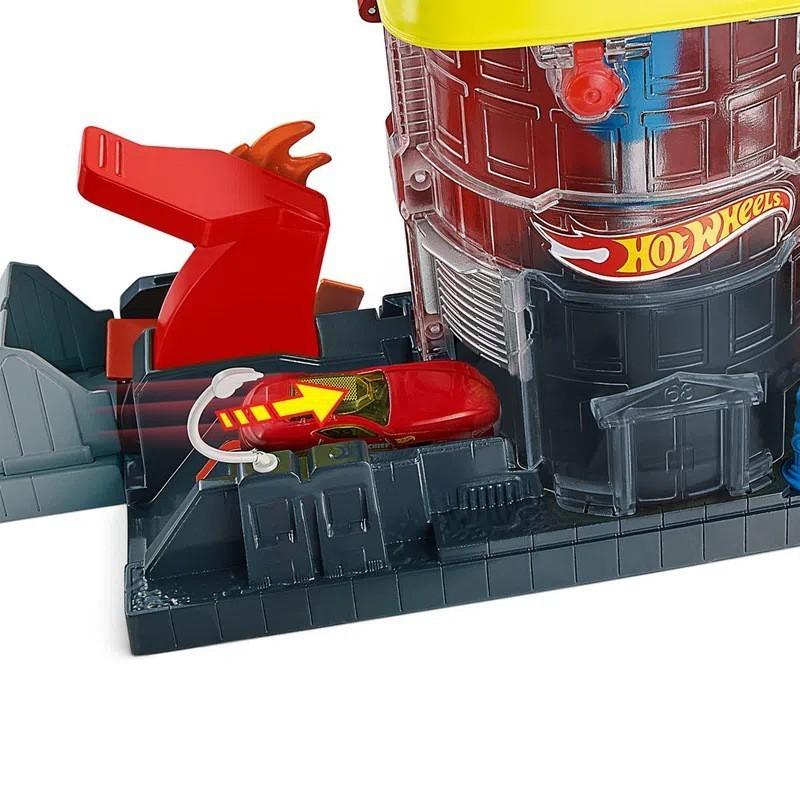 Pista Hot Wheels City: Super Quartel Dos Bombeiros - Mattel