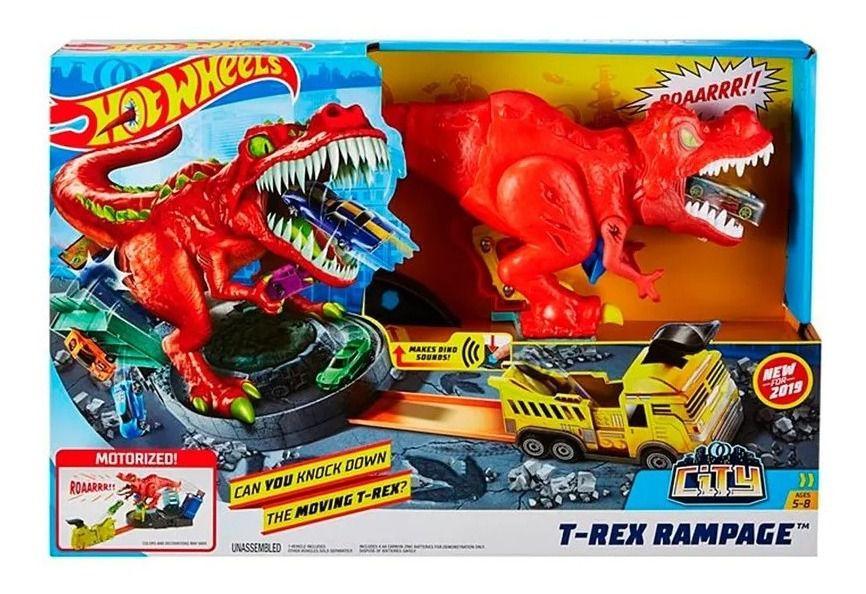 Pista Hot Wheels City: T-Rex Demolidor - Mattel