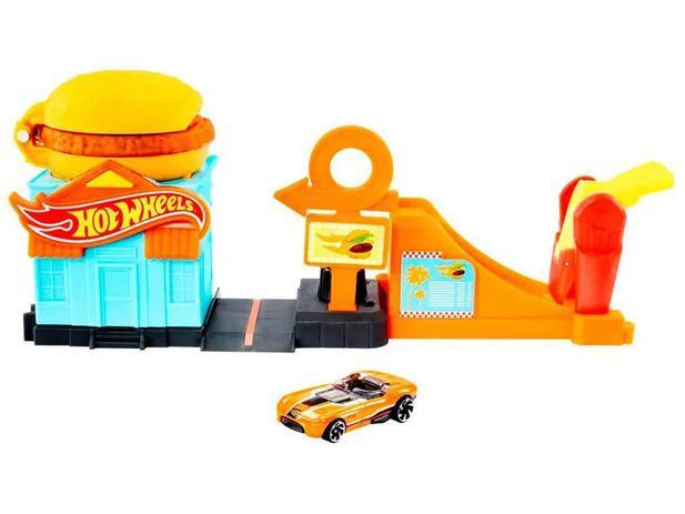 Pista Loja de Hambúrguer: Hot Wheels - Mattel
