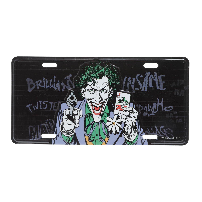 Placa Alumínio Preto Coringa Insano Joker Insane : DC Comics - Urban