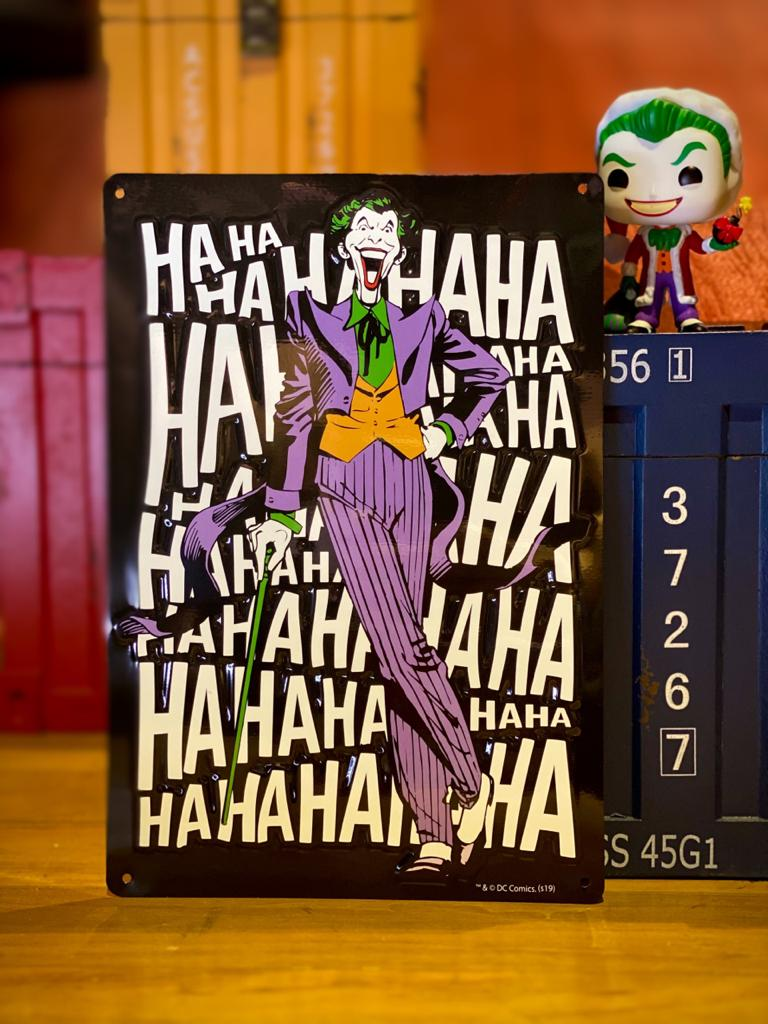 Placa Alumínio Preto Coringa Joker: DC Comics - Urban