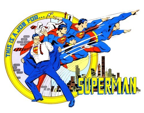 Placa de Aluímio : Superman - Metropole