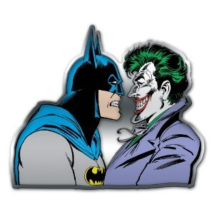 Placa de Alumínio : Batman Vs Joker - Metropole