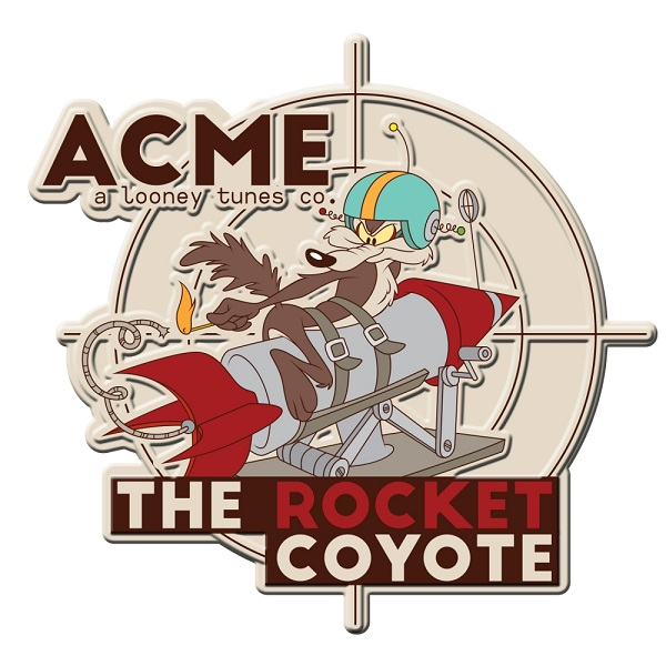 Placa de Alumínio The Rocket Coyote: Looney Tunes