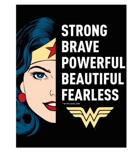 Placa de Alumínio: Mulher Maravilha ''Strong Brave'': (Wonder Woman) Dc Comics - Urban