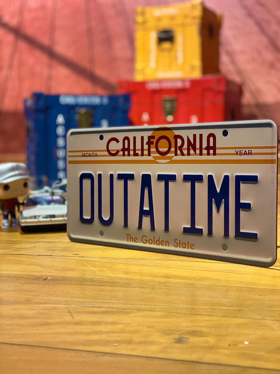 "Placa de Carro: California "" Outatime '' The  Golden State - EV"