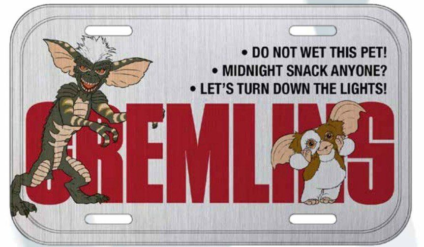 Placa De Carro Decorativa Gizmo: Gremlins - Urban
