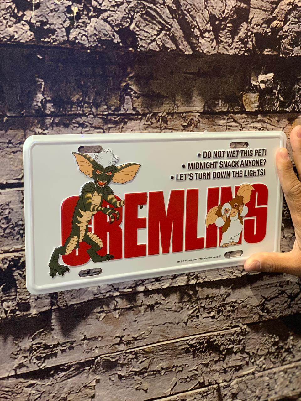 Placa De Carro Decorativa Gizmo: Gremlins - Urban