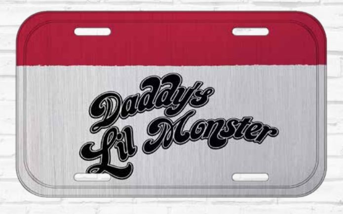 Placa De Carro Decorativa Harley Quinn (Daddy´s Lil Monster): Esquadrão Suicida - Urban