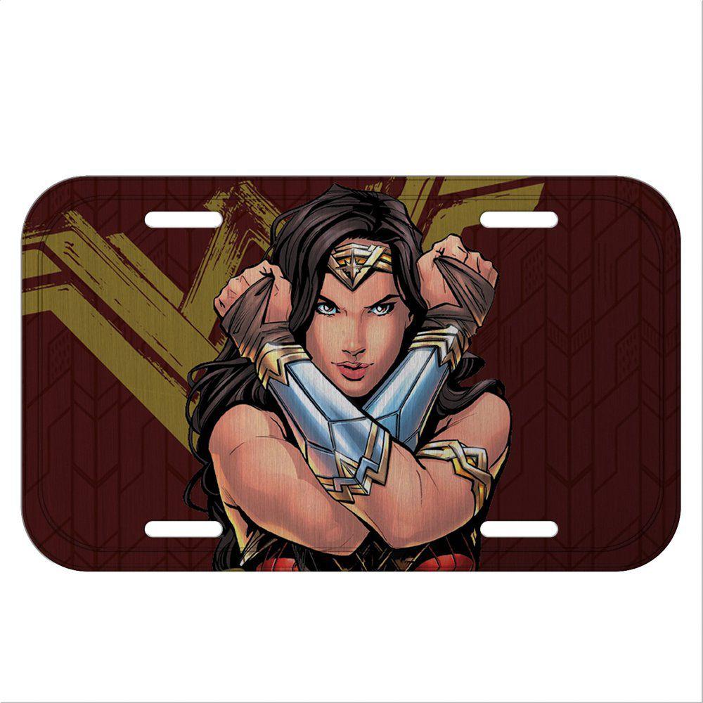 Placa De Carro Decorativa Mulher-Maravilha (Wonder Woman) - Urban