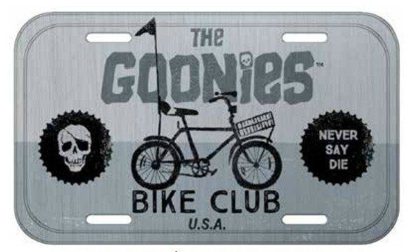 Placa De Carro Decorativa The Goonies: Bike Club - Urban