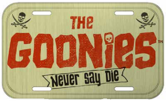 Placa De Carro Decorativa The Goonies (Never Say Die) - Urban