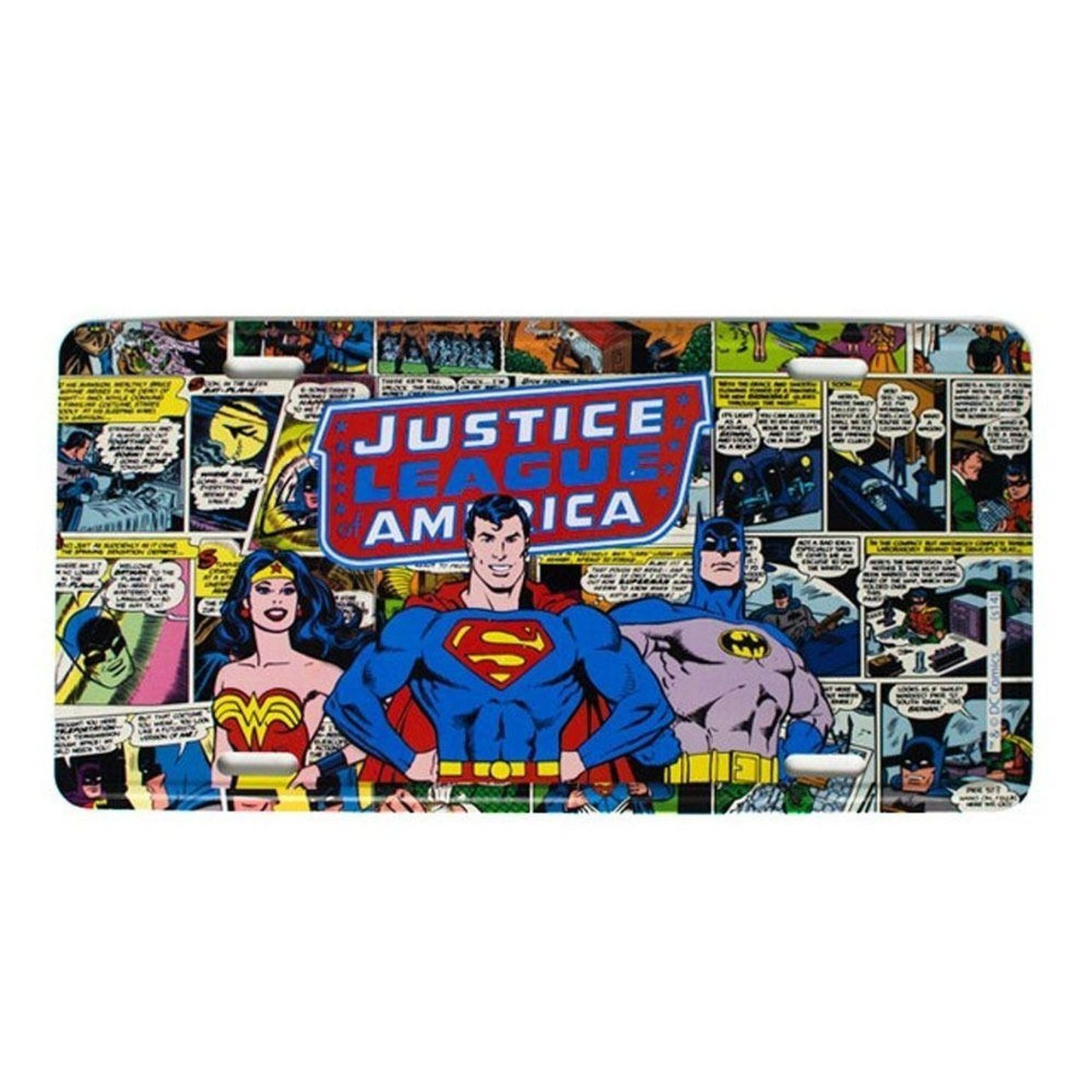 Placa De carro Liga da Justiça Americana (Justice League America)  - Metropole